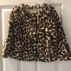 Old Navy brown leopard print coat. Excellent cond